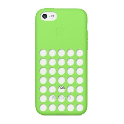 Чехол Apple Silicone Case Green (MF037) для iPhone 5C