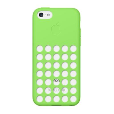 Купить Cиликоновый чехол Apple Silicone Case Green (MF037) для iPhone 5C