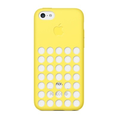 Чехол Apple Silicone Case Yellow (MF038) для iPhone 5C (MF038)