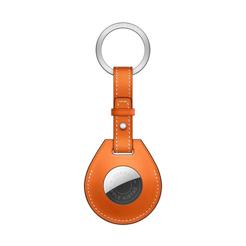 Купить Брелок с кольцом Apple Hermès Key Ring Orange (MX882) с AirTag