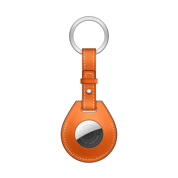 Брелок с кольцом Apple Hermès Key Ring Orange (MX882) с AirTag