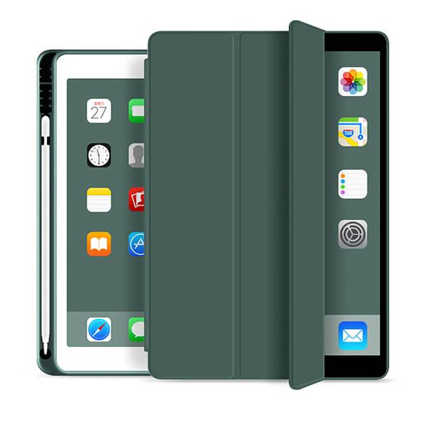 "Чехол с держателем для стилуса для iPad 8 | 7 10.2"" (2020 | 2019) iLoungeMax Protective Smart Cover Forest Green"