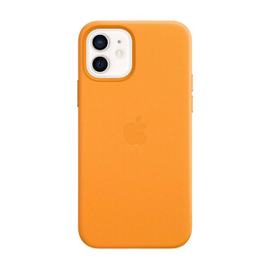 Купить Кожаный чехол Apple Lather Leather Case with MagSafe California Poppy (MHKC3) для iPhone 12 | 12 Pro