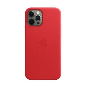 Купить Кожаный чехол Apple Lather Leather Case with MagSafe (PRODUCT)RED (MHKJ3) для iPhone 12 Pro Max