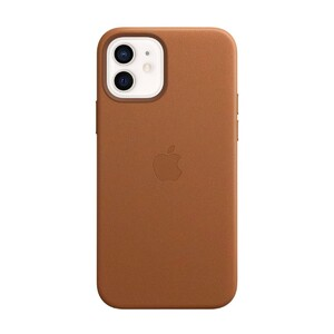 Купить Кожаный чехол Apple Lather Leather Case with MagSafe Saddle Brown (MHKF3) для iPhone 12 | 12 Pro