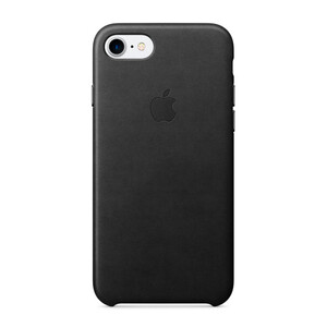 Купить Кожаный чехол Apple Leather Case Black (MMY52) для iPhone 7