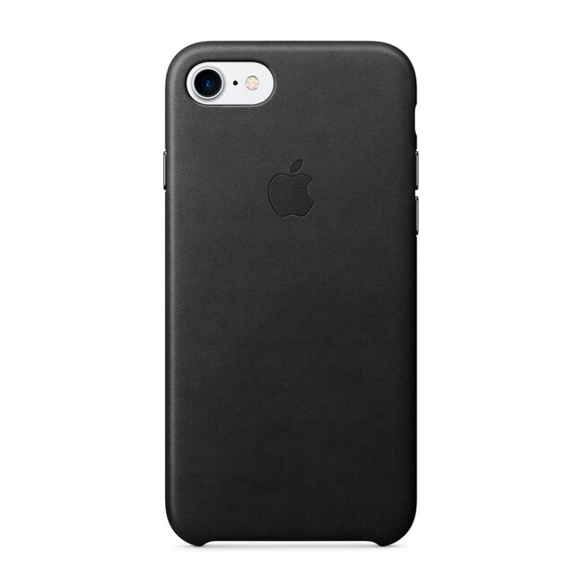 Кожаный чехол Apple Leather Case Black (MMY52) для iPhone 7