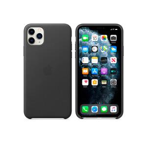 Купить Кожаный чехол Apple Leather Case Black (MWYE2) для iPhone 11 Pro