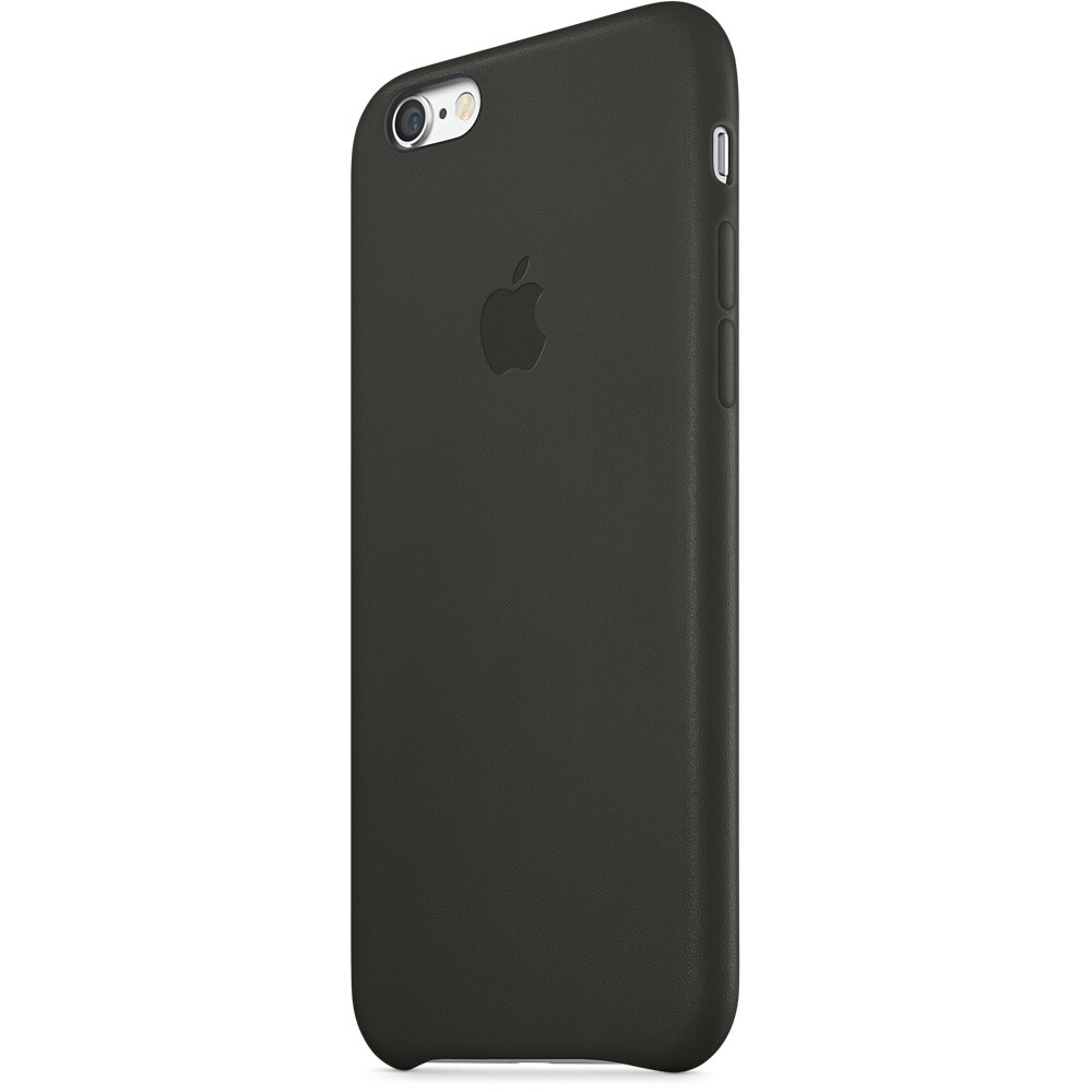 Кожаный чехол Apple Leather Case Black (MGR62) для iPhone 6/6s