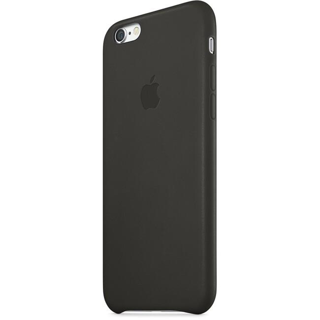 Кожаный чехол Apple Leather Case Black (MGR62) для iPhone 6/6s