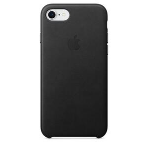 Купить Кожаный чехол Apple Leather Case Black (MQH92) для iPhone 8/7