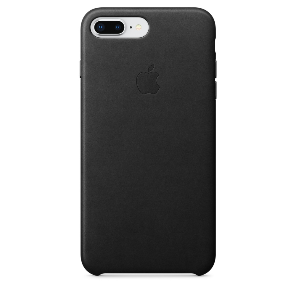 Купить Черный кожаный чехол Apple Leather Case Black (MQHM2) для iPhone 8 Plus   7 Plus