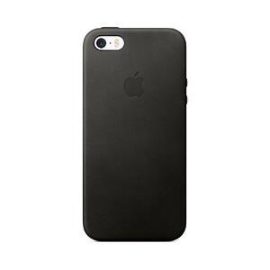 Купить Кожаный чехол Apple Leather Case Black (MMHH2) для iPhone SE/5S/5