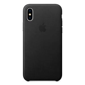 Купить Кожаный чехол Apple Leather Case Black (MQTD2) для iPhone X