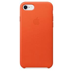 Купить Кожаный чехол Apple Leather Case Bright Orange (MRG82) для iPhone 8/7