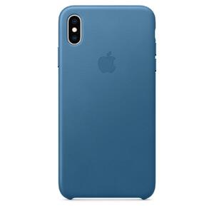 Купить Кожаный чехол Apple Leather Case Cape Cod Blue (MTEW2) для iPhone XS Max