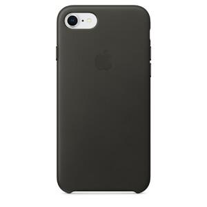 Купить Кожаный чехол Apple Leather Case Charcoal Gray (MQHC2) для iPhone 8/7