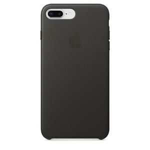 Купить Кожаный чехол Apple Leather Case Charcoal Gray (MQHP2) для iPhone 8 Plus/7 Plus
