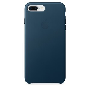 Купить Кожаный чехол Apple Leather Case Cosmos Blue (MQHR2) для iPhone 8 Plus/7 Plus