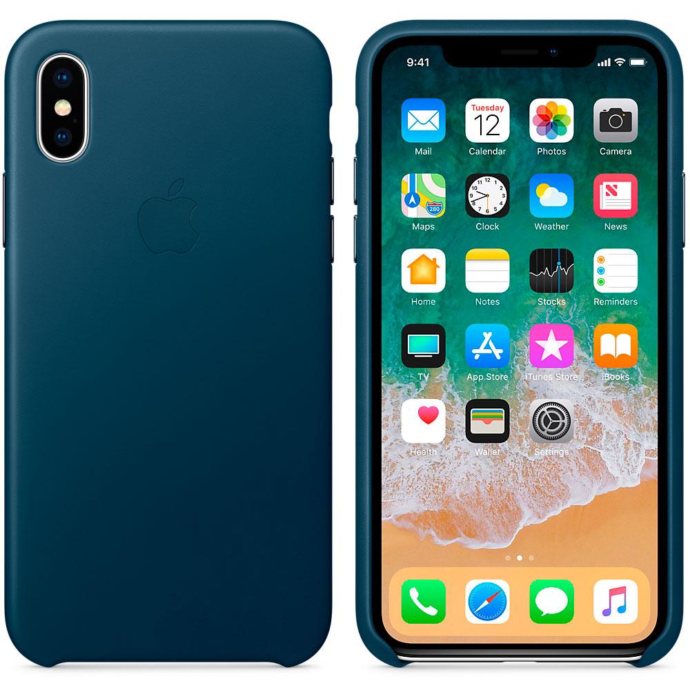 Apple Leather Case для iPhone X