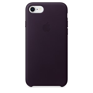 Купить Кожаный чехол Apple Leather Case Dark Aubergine (MQHD2) для iPhone 8/7
