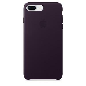 Купить Кожаный чехол Apple Leather Case Dark Aubergine (MQHQ2) для iPhone 8 Plus/7 Plus