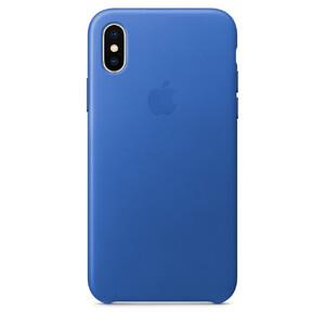 Купить Кожаный чехол Apple Leather Case Electric Blue (MRGG2) для iPhone X/XS