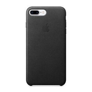 Купить Кожаный чехол Apple Leather Case Black OEM для iPhone 7 Plus/8 Plus