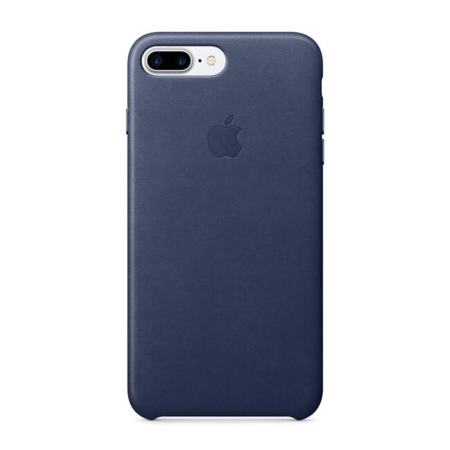 Кожаный чехол Apple Leather Case Midnight Blue (MMYG2) для iPhone 7 Plus