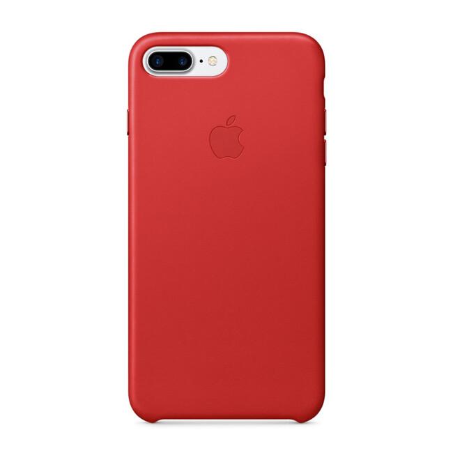Кожаный чехол Apple Leather Case (PRODUCT) RED (MMYK2) для iPhone 7 Plus