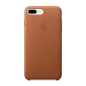 Купить Кожаный чехол Apple Leather Case Saddle Brown (MMYF2) для iPhone 7 Plus/8 Plus