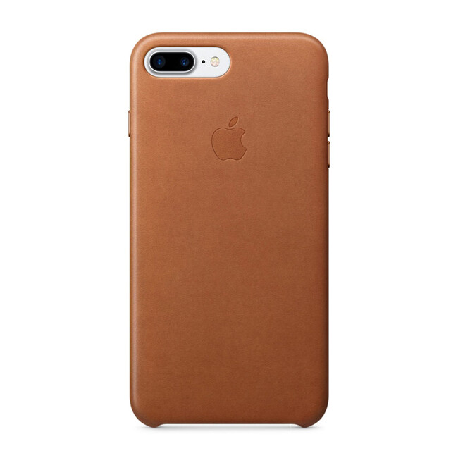 Кожаный чехол Apple Leather Case Saddle Brown (MMYF2) для iPhone 7 Plus