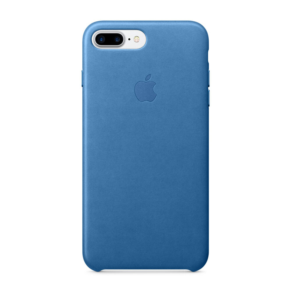 Кожаный чехол Apple Leather Case Sea Blue (MMYH2) для iPhone 7 Plus