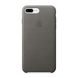 Купить Кожаный чехол Apple Leather Case Storm Gray (MMYE2) для iPhone 7 Plus/8 Plus