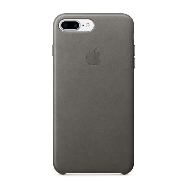 Кожаный чехол Apple Leather Case Storm Gray (MMYE2) для iPhone 7 Plus