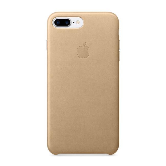 Кожаный чехол Apple Leather Case Tan (MMYL2) для iPhone 7 Plus