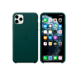 Купить Кожаный чехол Apple Leather Case Forest Green (MWYC2) для iPhone 11 Pro