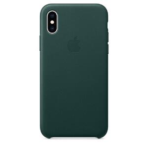 Купить Кожаный чехол Apple Leather Case Forest Green (MTER2) для iPhone XS/X