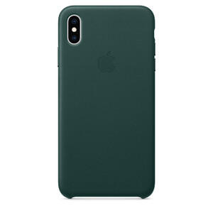 Купить Кожаный чехол Apple Leather Case Forest Green (MTEV2) для iPhone XS Max