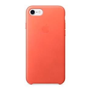 Купить Кожаный чехол Apple Leather Case Geranium (MQ5F2) для iPhone 7/8