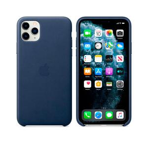 Купить Кожаный чехол Apple Leather Case Midnight Blue (MX0G2) для iPhone 11 Pro Max