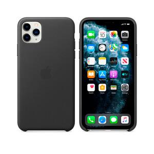 Купить Кожаный чехол Apple Leather Case Black (MX0E2) для iPhone 11 Pro Max