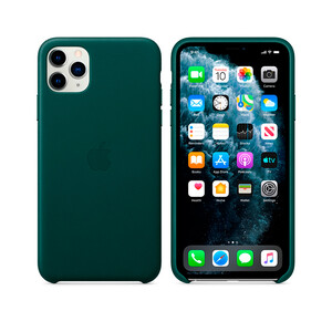 Купить Кожаный чехол Apple Leather Case Forest Green для iPhone 11 Pro Max (MX0C2)