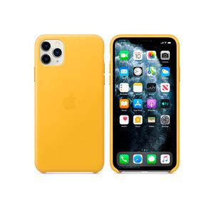 Купить Кожаный чехол Apple Leather Case Meyer Lemon (MWYA2) для iPhone 11 Pro