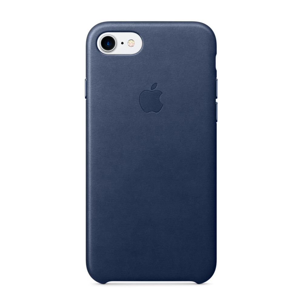 Кожаный чехол Apple Leather Case Midnight Blue (MMY32) для iPhone 7/8