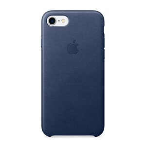 Купить Кожаный чехол Apple Leather Case Midnight Blue (MMY32) для iPhone 7