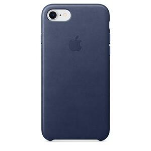 Купить Кожаный чехол Apple Leather Case Midnight Blue (MQH82) для iPhone 8/7