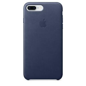 Купить Кожаный чехол Apple Leather Case Midnight Blue (MQHL2) для iPhone 8 Plus/7 Plus