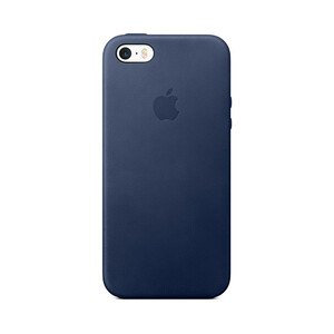 Купить Кожаный чехол Apple Leather Case Midnight Blue (MMHG2) для iPhone SE/5S/5