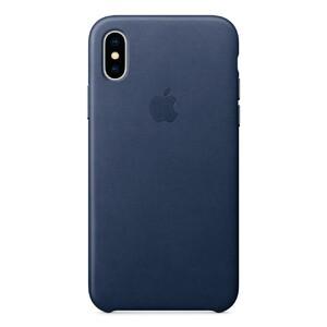 Купить Кожаный чехол Apple Leather Case Midnight Blue (MQTC2) для iPhone X/XS